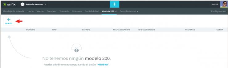 Generar el modelo 200 con Anfix: paso 2