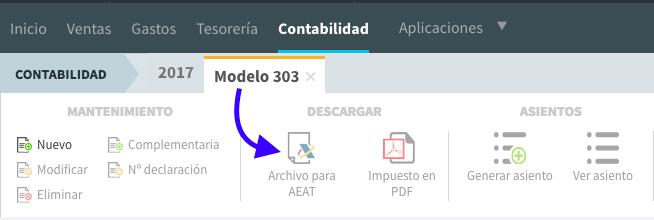 presentación del modelo 303 con fichero AEAT