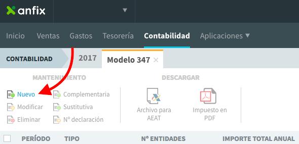 Las operaciones financieras en el modelo 347