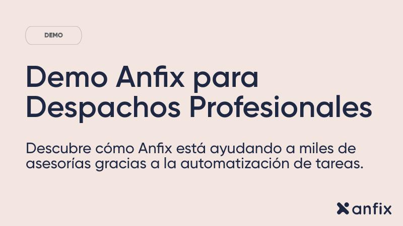 Demo Anfix para Despachos Profesionales