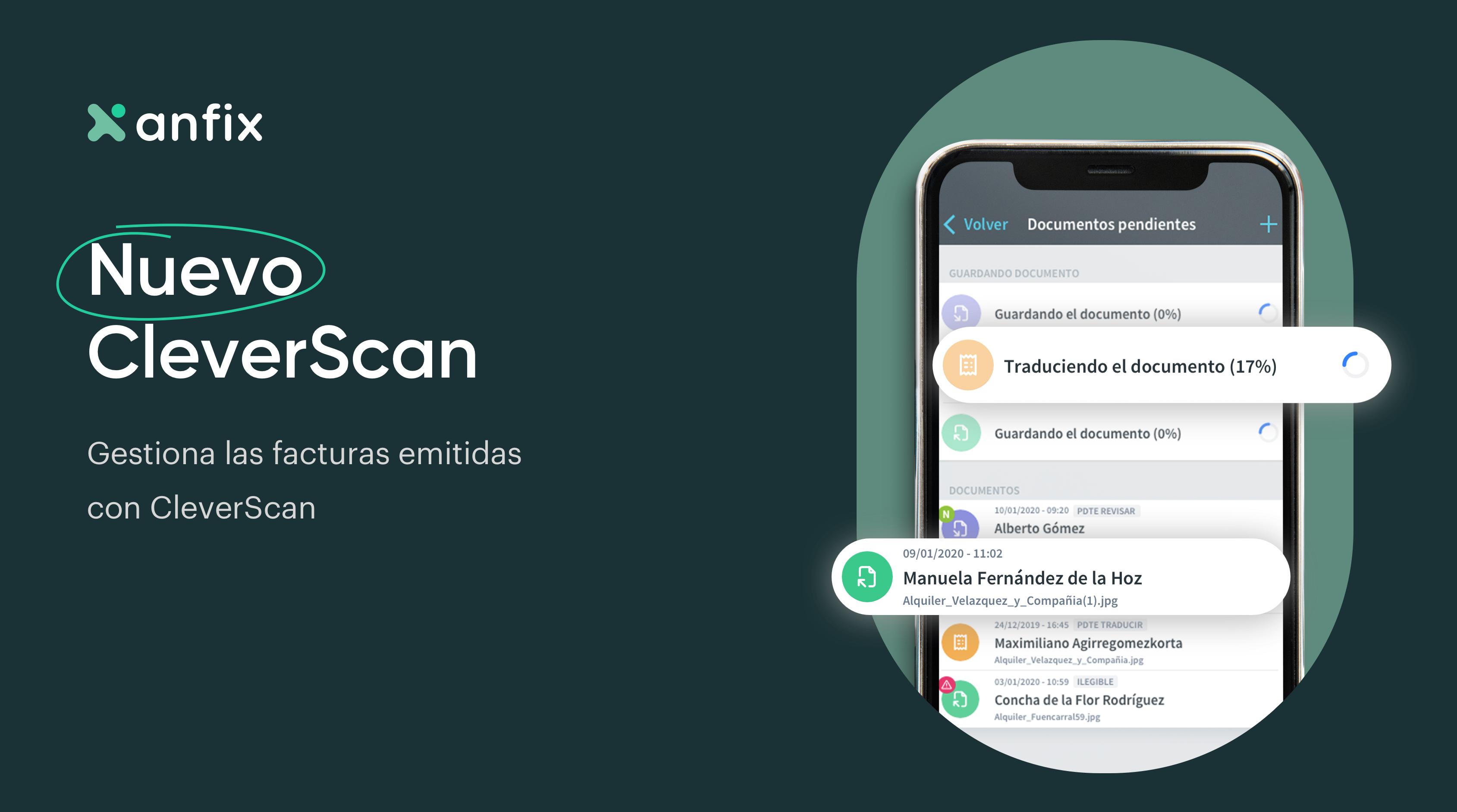 Nuevo CleverScan® de facturas emitidas