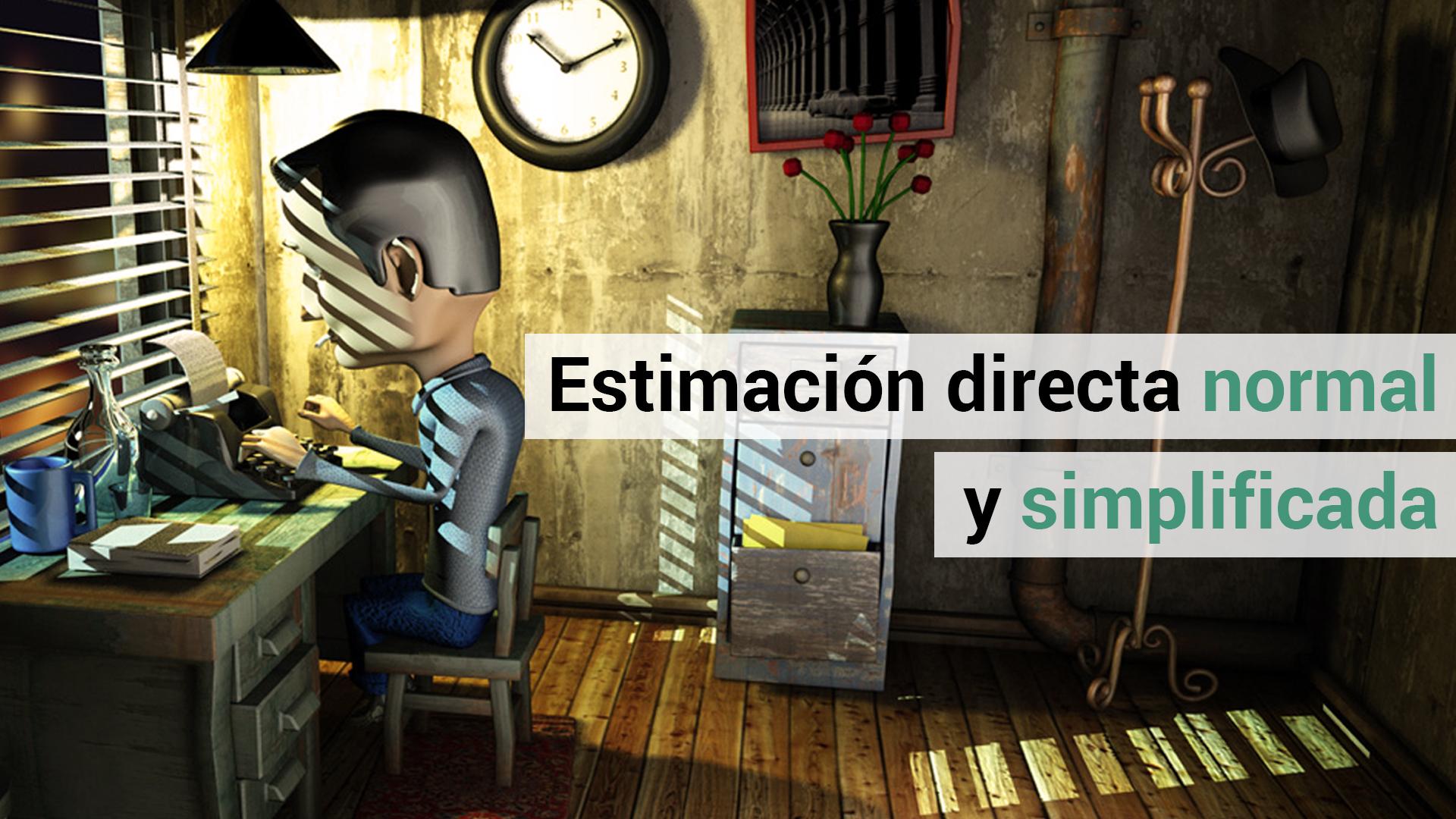 Diferencia entre la estimación directa normal y simplificada