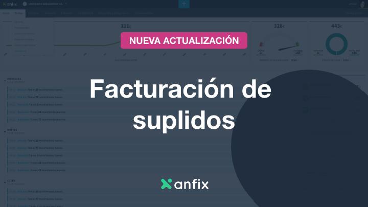 Factura tus gastos suplidos de forma rápida y sencilla con Anfix